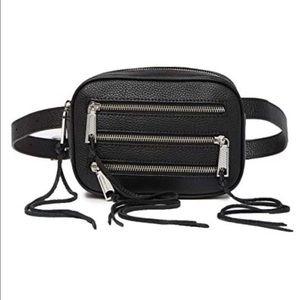 📌NWT Rebecca Minkoff Pebbled Leather Zip Belt Bag